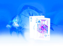 Time and poker Royalty Free Stock Photography