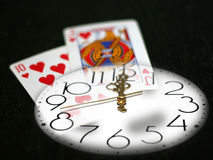 Time and poker Royalty Free Stock Images