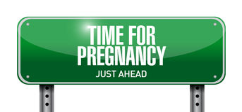 Time for pregnancy road sign illustration Stock Image