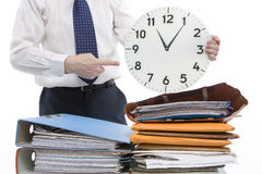 Time Pressure. More and more people are under time pressure and need break Stock Photo