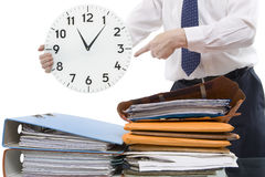 Time Pressure. More and more people are under time pressure and need break Royalty Free Stock Image