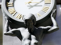 Time Pressure. Jesus with Clock Royalty Free Stock Images