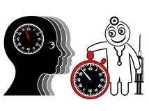 Time Pressure for Doctor and Patient Royalty Free Stock Photo