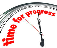 Time for Progress Clock Forward Movement Innovation Royalty Free Stock Image