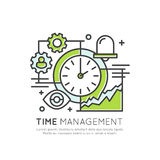 Time Project Management, Deadline. Vector Icon Style Illustration Concept of Time Project Management, Deadline, Isolated Modern Symbol Royalty Free Stock Photo