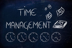 Time and project management for the global business Royalty Free Stock Photo