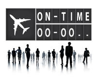 On Time Punctual Efficiency Organization Management Concept Stock Images