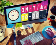 On Time Punctual Efficiency Organization Management Concept Stock Photography