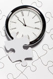 Time Puzzle. Concept of Solution Royalty Free Stock Photos