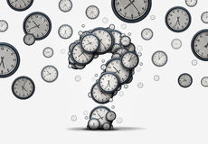 Time Question Concept stock illustration
