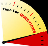 Time For Questions Message Meaning Answers Needed Royalty Free Stock Photo