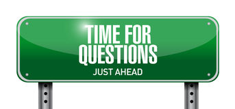 Time for questions road sign illustration design Royalty Free Stock Image