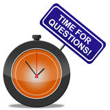 Time For Questions Shows Support Frequently And Assistance Stock Images