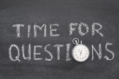 Time for questions watch Stock Photo