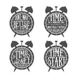 Time quotes lettering Stock Photo