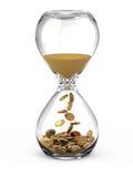 Time är pengarbegreppet Royaltyfri Foto