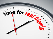 Time for real friends. An image of a nice clock with time for real friends Stock Image