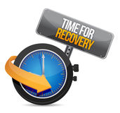 Time for recovery concept illustration. Design over white Stock Image