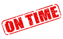 On time red stamp text Royalty Free Stock Photography