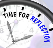 Time For Reflection Message Means Ponder Or Reflect Royalty Free Stock Images