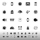 Time related icons on white background Stock Photo