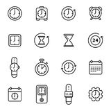 Time Related Vector Line Icons Stock Image