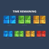 Time remaining illustration. Stock Images
