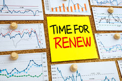 Time for renew concept Stock Photos