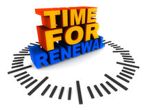 Time for renewal Stock Photography