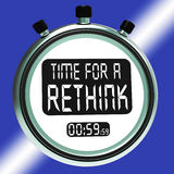 Time For A Rethink Means Change Strategy Stock Photo
