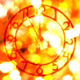 Time of retro clock stock image