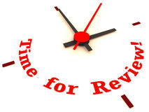 Time for review clock. A clock showing time for review, business review Stock Photos