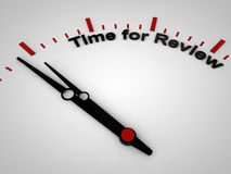 Time for Review. On a clock, one minute before twelve Stock Image