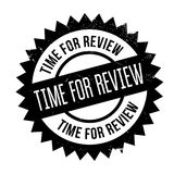 Time for review stamp. Grunge design with dust scratches. Effects can be easily removed for a clean, crisp look. Color is easily changed Stock Photos