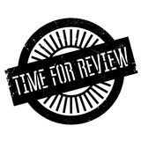 Time for review stamp. Grunge design with dust scratches. Effects can be easily removed for a clean, crisp look. Color is easily changed Royalty Free Stock Photo