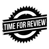 Time for review stamp. Grunge design with dust scratches. Effects can be easily removed for a clean, crisp look. Color is easily changed Stock Images