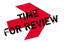 Time for review stamp Stock Image