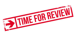 Time for review stamp. Grunge design with dust scratches. Effects can be easily removed for a clean, crisp look. Color is easily changed Royalty Free Stock Photography