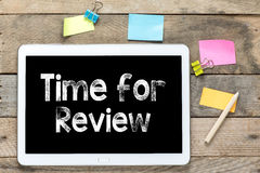 Time for review on Tablet computer Royalty Free Stock Photos