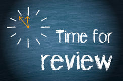 Time for Review Words and Clock Royalty Free Stock Image
