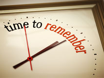 Time ro remember Stock Photography