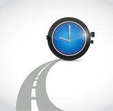Time road illustration design Stock Photo
