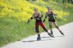 Time for rollerblades royalty free stock image