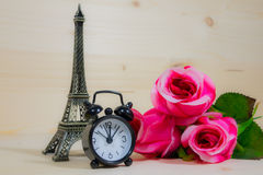 Time of romance. Beautiful pink roses Stock Photo
