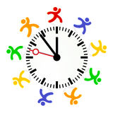 Time rule. Timer easy change Stock Photography