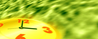Time is running. The time is running design is created in photoshop and it is in yellow green background Royalty Free Stock Photo