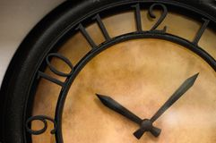 Time is running. Clock dial up-close Stock Images