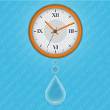 Time is running out as water Royalty Free Stock Image