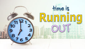 Time is running out blur alarm clock city Royalty Free Stock Photo