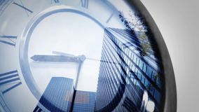 Time is running out for a corporation - business concept stock footage